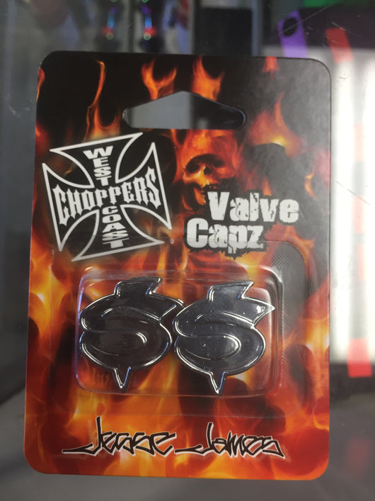 West Coast Choppers Dollar Money Sign Valve Caps