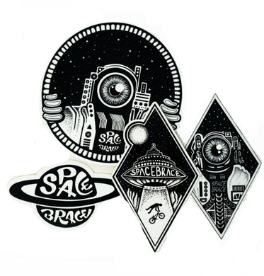 The Space Brace Sticker Pack (10)