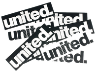 UNITED BMX STICKER - UNITED RAMP/FRAME - BLACK/WHITE