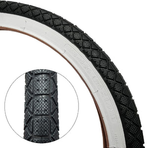 "20"" White Wall Tire 1.95"" for Old School BMX (SINGLE)"