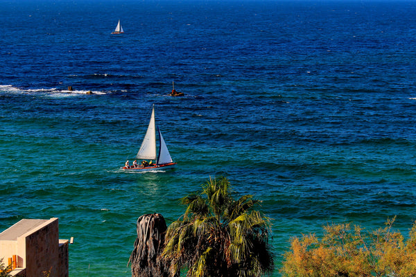 Mediterrainian Sea At Jaffa, Israel - Stunning Photo Chalkboards