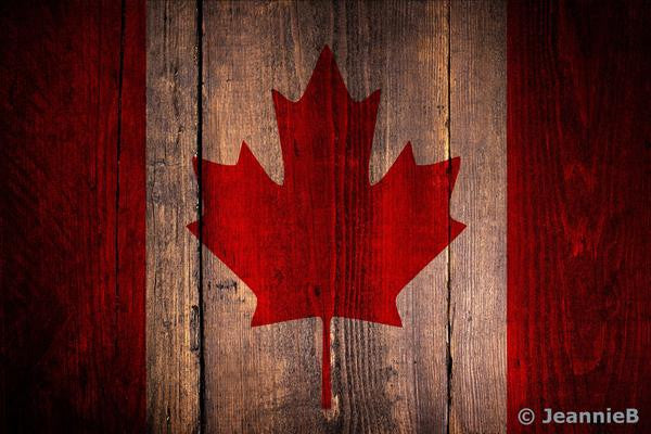 Canada Flag - Vintage - Stunning Photo Chalkboards