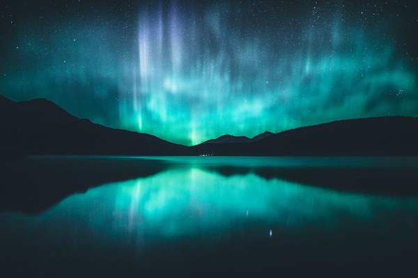 Northern Lights Reflection - Stunning Photo Chalkboards