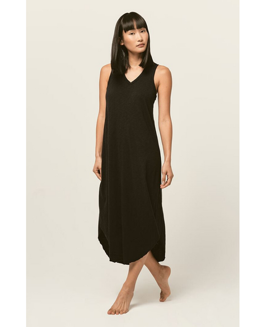Reverie Midi Dress - BLACK