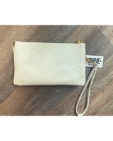 Go-to Clutch in White Cheetah