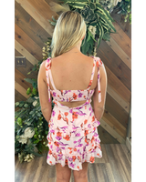 Garden Mini Dress in Pink