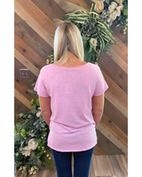 V-neck Tee in Lavender