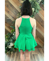Lattice Green Romper