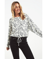 Dollie Swirl Long Sleeve Top