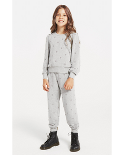 Girls Dot Top/Jogger Set