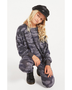 Girls Mayori Camo Marled Long Sleeve