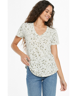 Painted Leopard V-Neck Tee