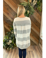 Stripe Weekender in Grey