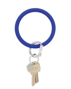 Silicone Key Ring in Cobalt
