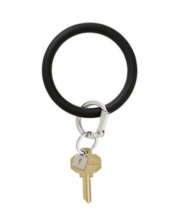 Silicone Key Ring in Black