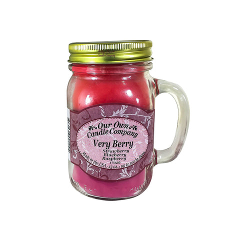 Very Berry Scented Mason Jar Candle 13 oz.