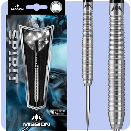 Mission Spirit Darts - Steel Tip Tungsten - M1 - Rear Ring Grip - 23g