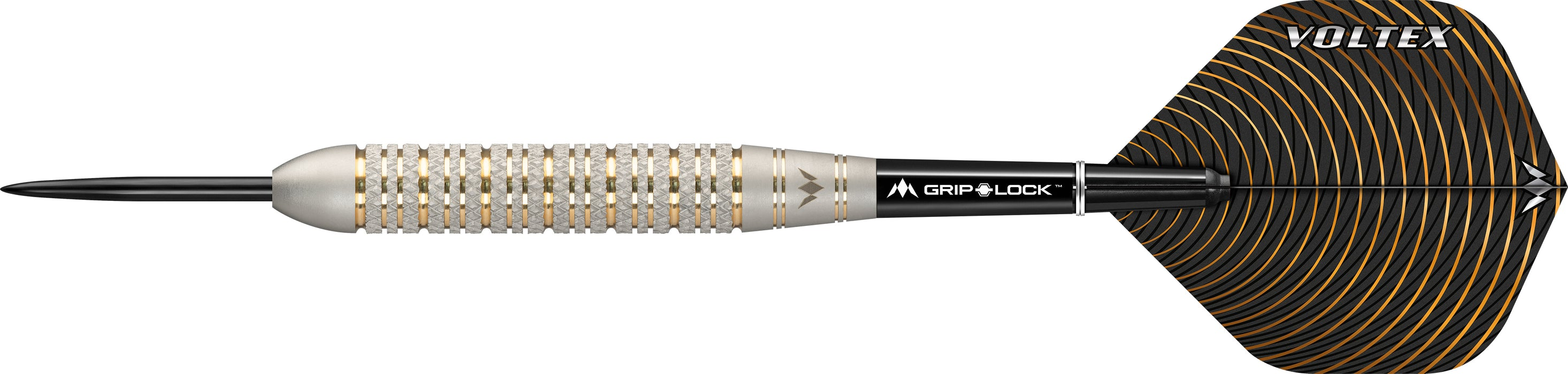 Mission Voltex Darts - Steel Tip Brass - Electro - M2 - Silver - Knurled - 23g