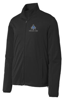 DL - J717 - BLACK Lightweight Softshell Jacket