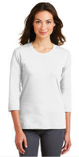 INS - Ladies 3/4 Sleeve Scoop Neck