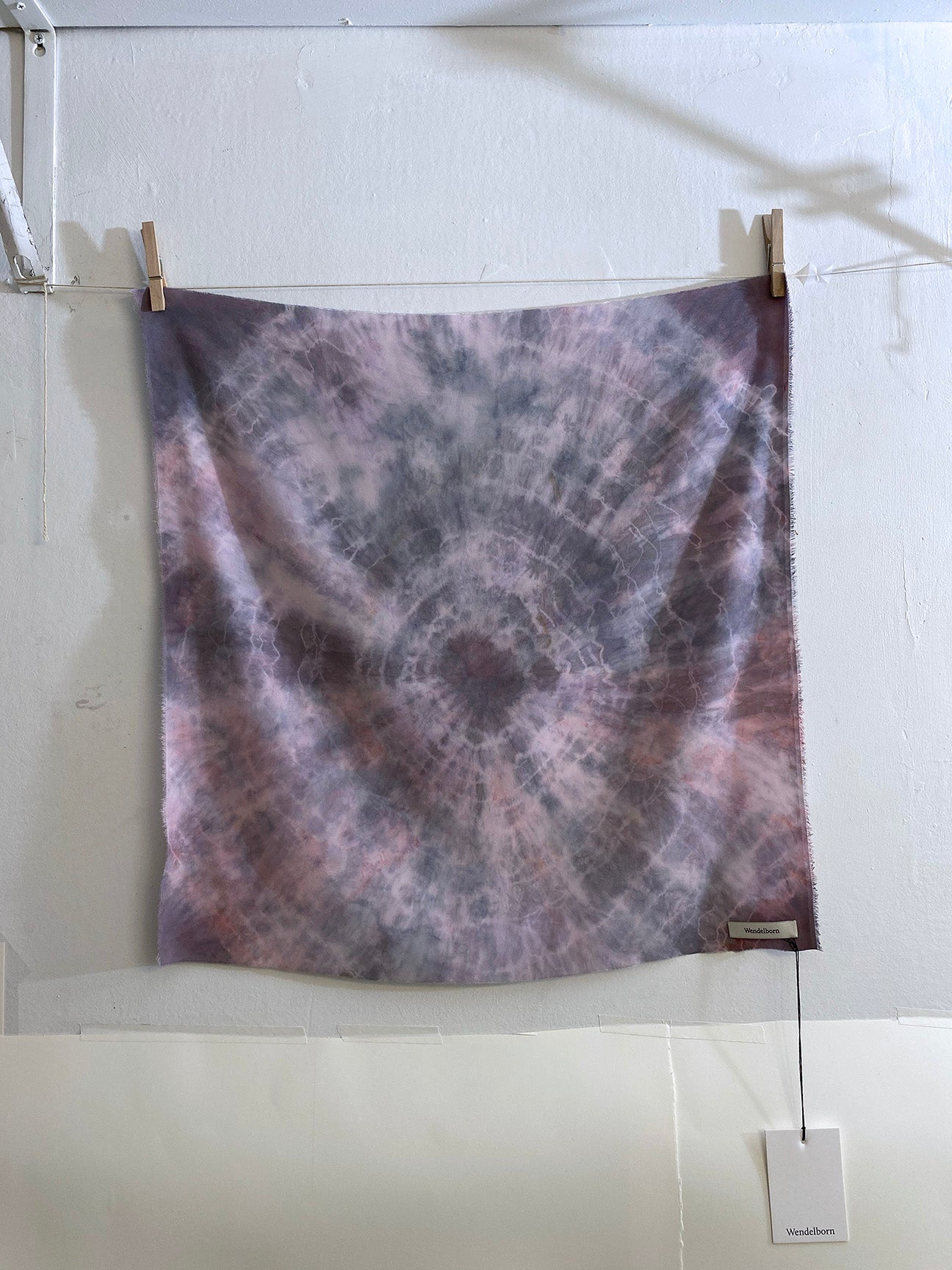 Hand-Dyed Stretch Silk Scarf #14