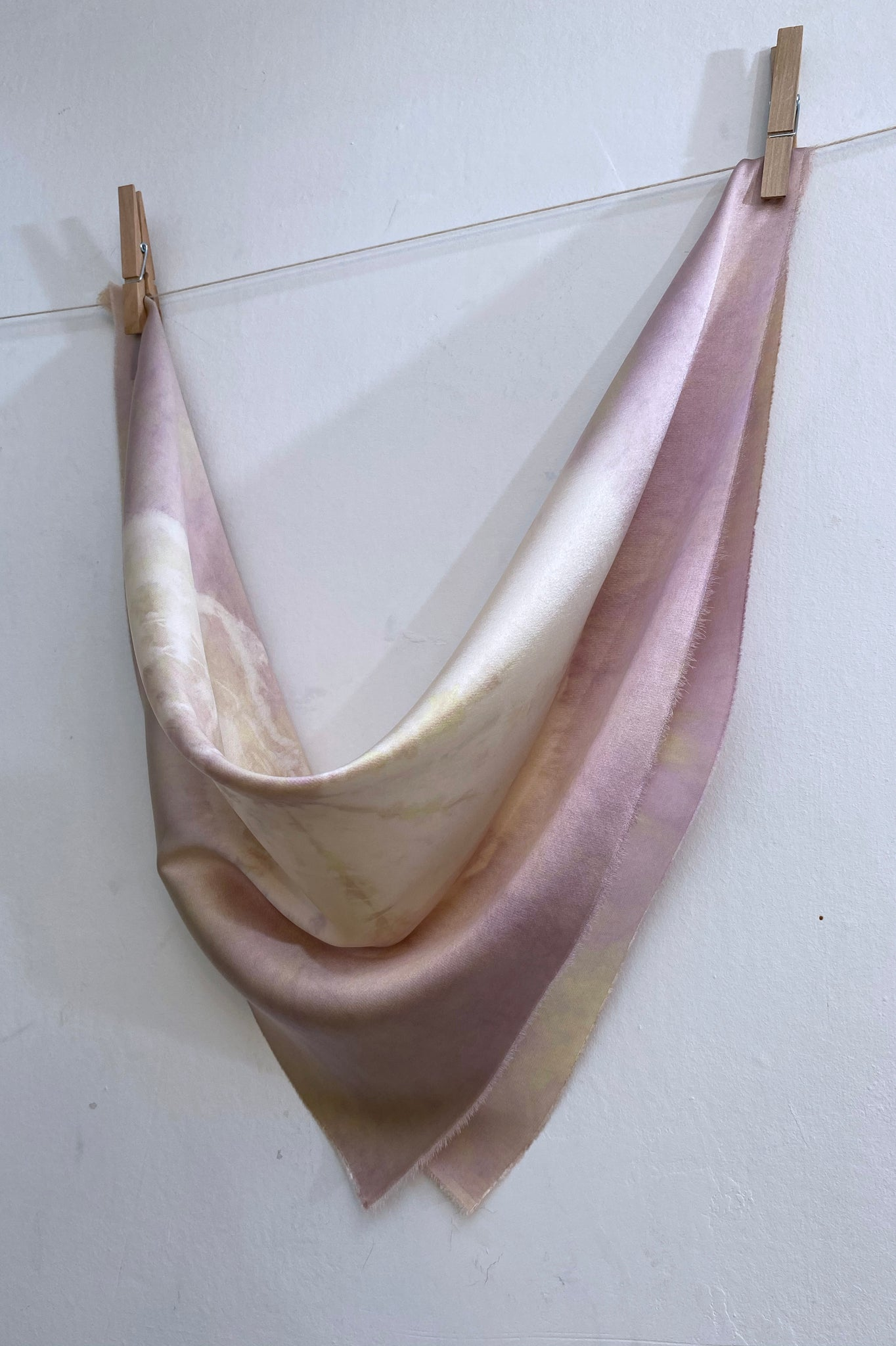 Hand-Dyed Stretch Silk Scarf #27