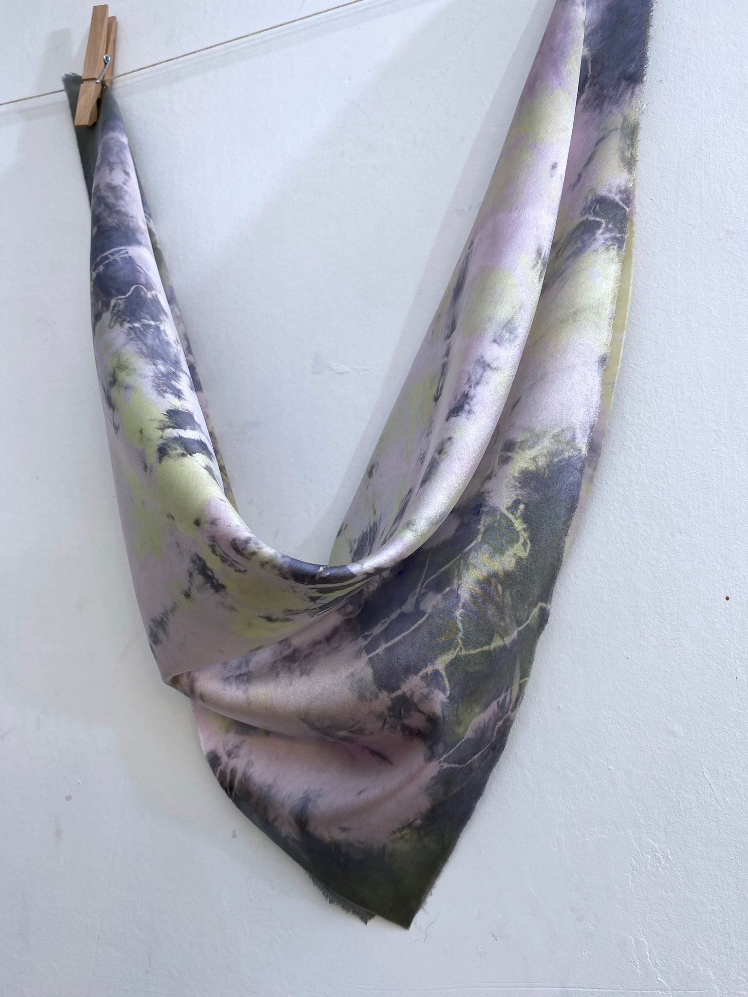 Hand-Dyed Stretch Silk Scarf #26