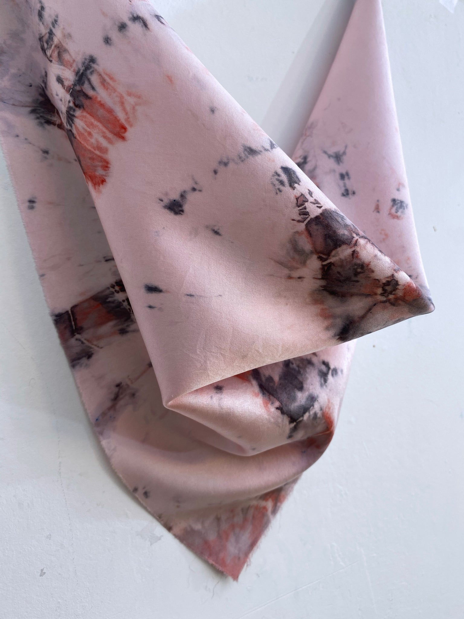 Hand-Dyed Stretch Silk Scarf #17