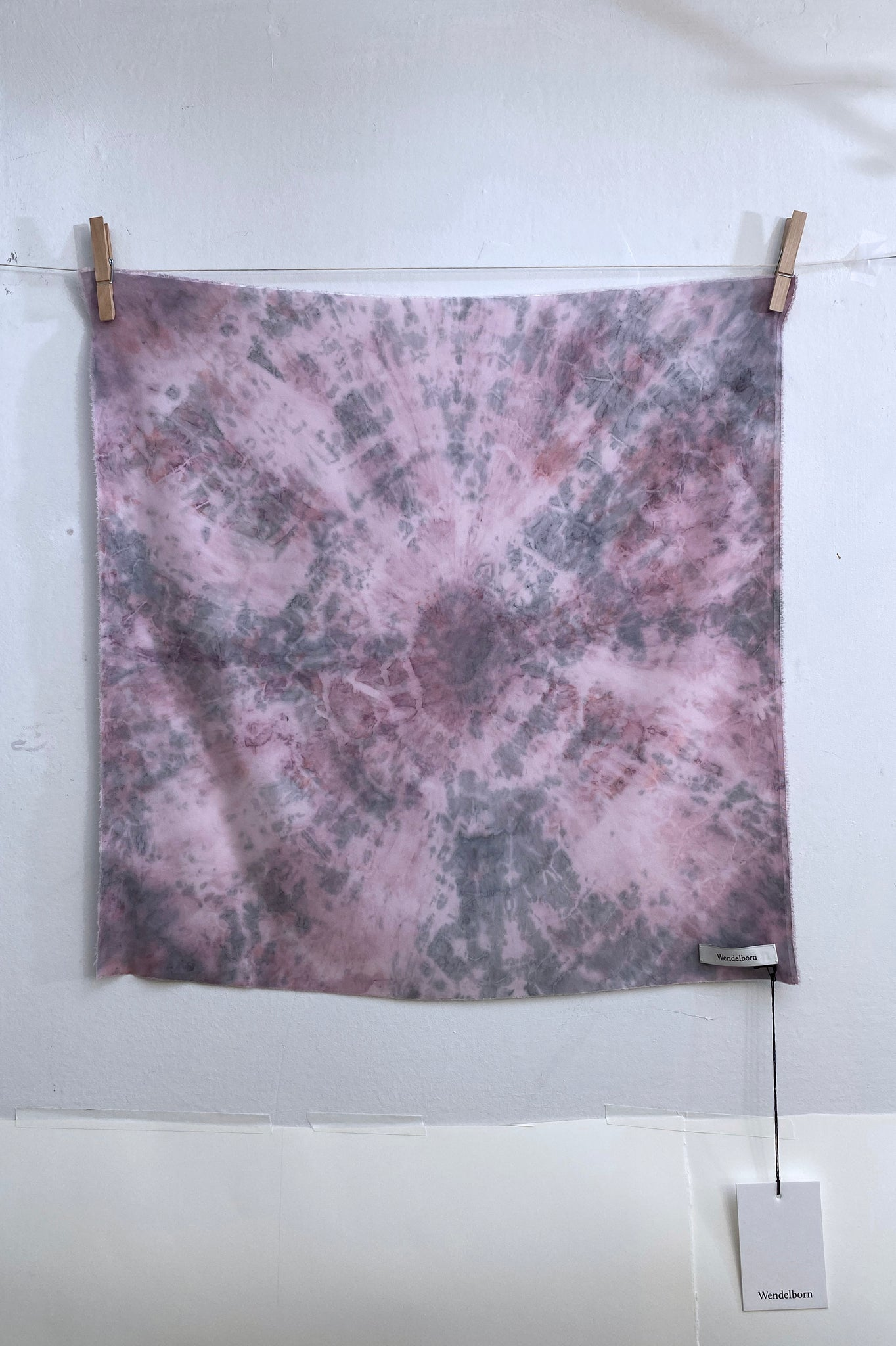 Hand-Dyed Stretch Silk Scarf #15