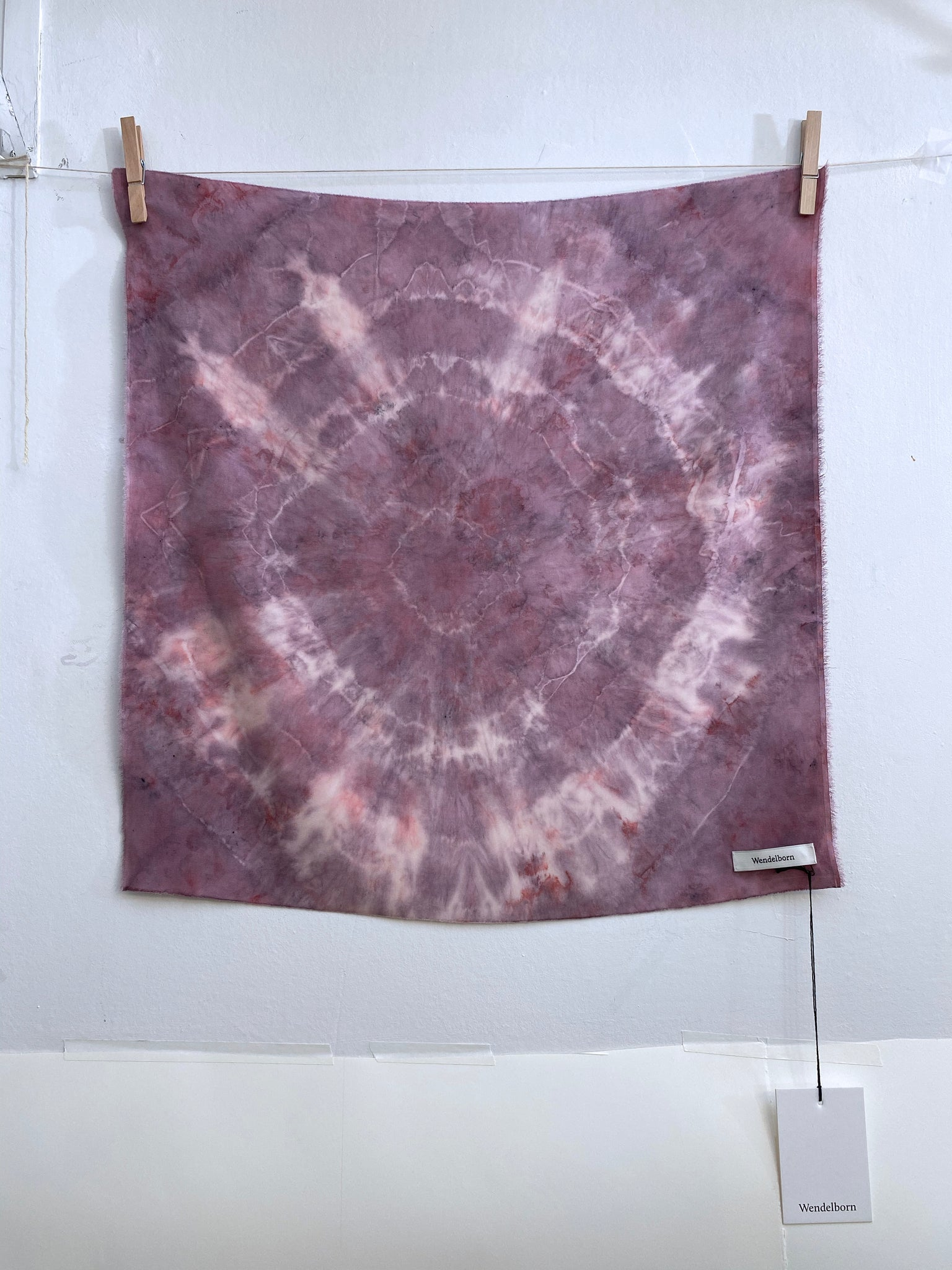 Hand-Dyed Stretch Silk Scarf #16