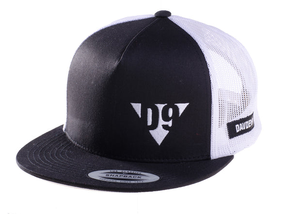 Cap D9 Trucker Black