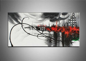 Canvas Oil Paintings - Abstract Cityscape Painting | 324S