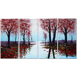 Canvas Oil Paintings - Autumn Forest Of Colors | 4 Panel | 1195