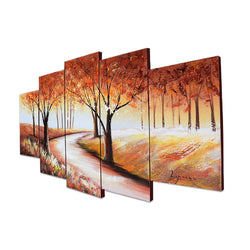 Canvas Oil Paintings - Autumn In The Forest | 5 Panel | 1231