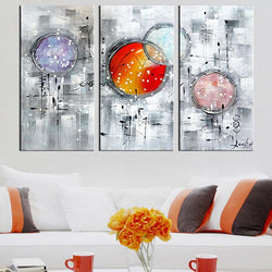 Canvas Oil Paintings - Bubbles Abstract Canvas Oil Painting | 3 Panel | 1170