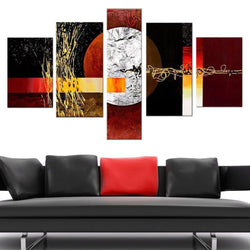 Canvas Oil Paintings - Contemporary Abstract Textured Oil Canvas Painting | 5 Piece | 379