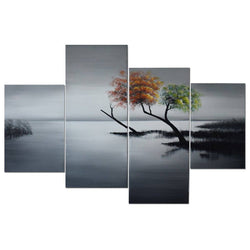 Canvas Oil Paintings - Edge Of Hope - Canvas Oil Painting | 4 Panel | 1213