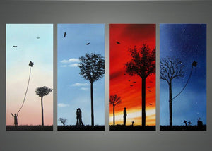 Canvas Oil Paintings - Memories Of You - Lived, Loved And Lost Canvas Oil Painting | 4 Panel | 1159