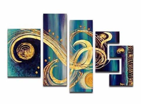 Canvas Oil Paintings - Modern Textured Oil Painting | 5 Piece | 474