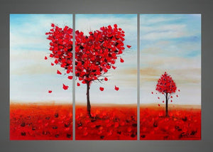 Canvas Oil Paintings - My Sweet Tree Heart Canvas Oil Painting | 3 Panel | 1129