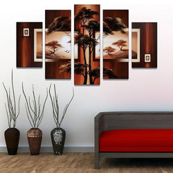 Canvas Oil Paintings - Nature | Tree Canvas Oil Painting | 5 Piece | 381