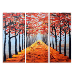 Canvas Oil Paintings - Together Hand In Hand Canvas Oil Painting | 3 Panel | 1127