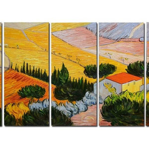 "Canvas Oil Paintings - Van Gogh ""Enclosed Field With Ploughman"" Canvas Oil Painting Reproduction 