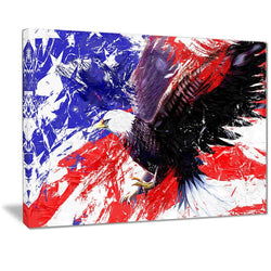 Canvas Print - American Eagle Flag Canvas Print | PT2313