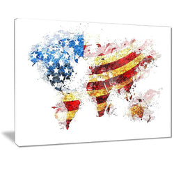 Canvas Print - American Flag Across The Map Canvas Print | PT2827