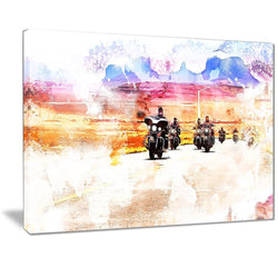 Canvas Print - Biking On Route 66 Canvas Print | PT2812