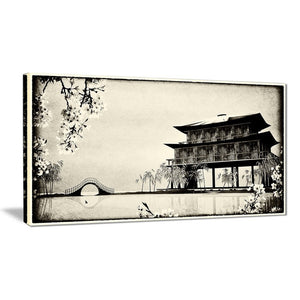 Canvas Print - Chinese Black & White Landscape Canvas Print | PT7453