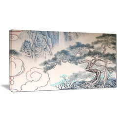 Canvas Print - Chinese Tree Landscape Canvas Art Print | PT7495