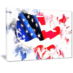 Canvas Print - Colors Of America Map Canvas Print | PT2826