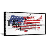 Canvas Print - Dreams Of USA Flag Map Canvas Art Print |  PT7526